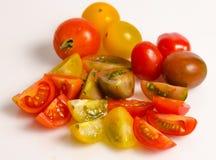 Various types of cherry tomatoes Stock Photos