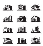 Various types of construction Royalty Free Stock Images