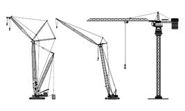Various types of cranes vector illustration