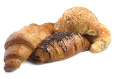 various types of croissants Stock Image