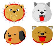 Various types of cute dogs royalty free illustration