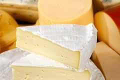 Various types of delicious cheese Stock Photos