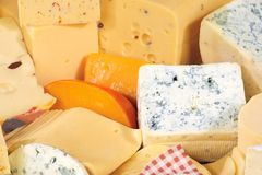 Various types of delicious cheese Stock Photography