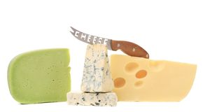 Various types of delicious cheeses Stock Photography