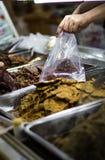 Various Types of Dried Beef. Taken in Jiuzhaigou, Sichuan, China Stock Photos