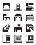 Various types of furniture Stock Images