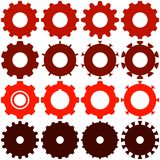 Various Types of Gears Royalty Free Stock Photo