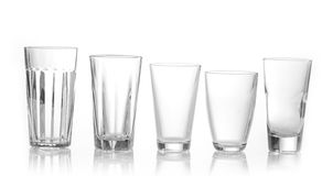 Various types of glasses Stock Images