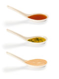 Various types of hot and spicy sauce Stock Photos