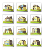 Various types of houses Royalty Free Stock Photo
