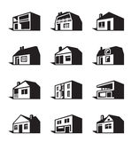 Various types of houses Stock Photography