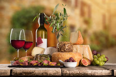 Various types of italian cheeses Stock Photography