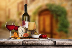 Various types of italian cheeses Royalty Free Stock Images