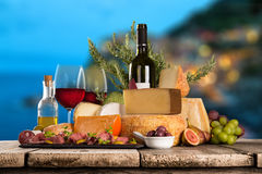 Various types of italian cheeses Royalty Free Stock Image