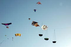 Various types of  kites Royalty Free Stock Images