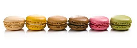 Various types of macaroons Royalty Free Stock Images
