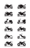 Various types of motorcycles Royalty Free Stock Image