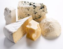 Various Types Of Cheeses. Royalty Free Stock Images