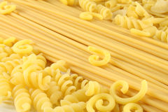 Various types of pasta Royalty Free Stock Images