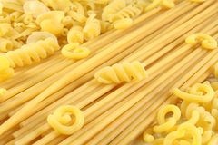 Various types of pasta Stock Images