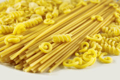 Various types of pasta Royalty Free Stock Photo