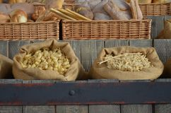 Various types of italian pasta. Various types of pasta in Expo Milano stock photography