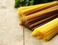 Various types of pasta Royalty Free Stock Photos