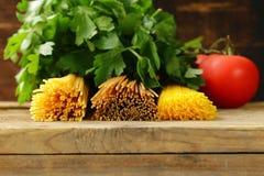 Various types of pasta Stock Image