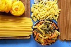 Various types of pasta Stock Photo