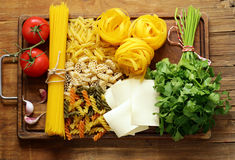 Various types of pasta Stock Photography
