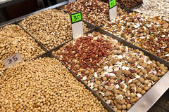Pulses & Nuts for Sale Royalty Free Stock Photography