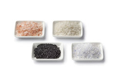 Various types of salt Royalty Free Stock Image