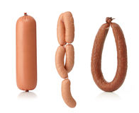 Various types of sausages Royalty Free Stock Image