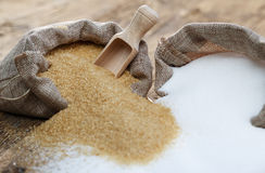 Various types of sugar royalty free stock images