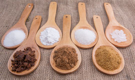 Various Types Of Sugar IV Royalty Free Stock Photo