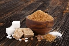 Various types of sugar.