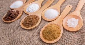 Various Types Of Sugar VII Royalty Free Stock Photos