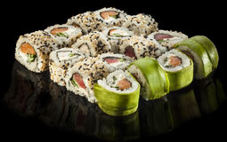 Various types of sushi Stock Photography