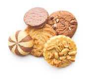 Various types of sweet cookies. Royalty Free Stock Photography