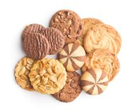 Various types of sweet cookies. Royalty Free Stock Image
