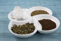 Various types of tea royalty free stock photos