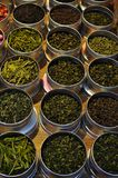 Various types of tea made from different tea leaves and herbs. There are many types of tea in this world that we know. Some of them are Earl Grey, Rose Tea Stock Photography