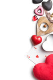 Various types of valentine hearts Stock Image