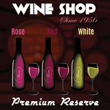 Various types of wine in wine cellar for advertising Stock Image