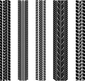 Various tyre treads. Illustration Stock Images