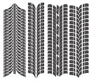 Various tyre treads. Vector illustration of the various tyre treads Royalty Free Stock Photos