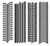 Various tyre treads. Vector illustration of the various tyre treads Stock Photo