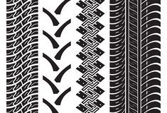 Various tyre treads. Vector illustration of the various tyre treads Royalty Free Stock Photo