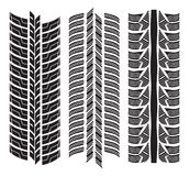 Various tyre treads. Vector illustration of the various tyre treads Stock Image