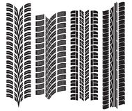 Various tyre treads. Vector illustration of the various tyre treads Stock Photos